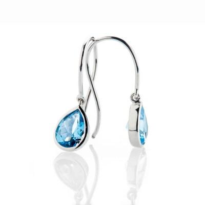 Heidi Kjeldsen Vibrant Swiss Blue Enhanced Natural Topaz And Gold Drop Earrings - ER2361-3
