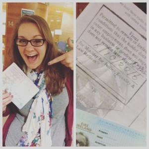 Got my visa -today! It took 12 hours from beginning to end but went so smoothly it was only God :]