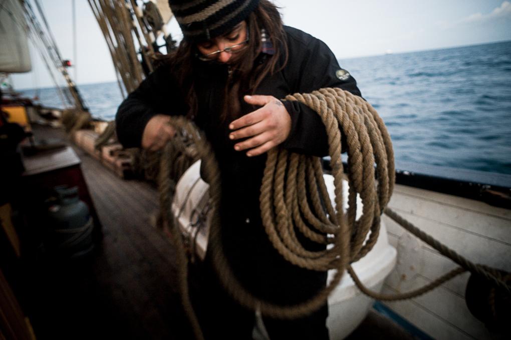 Marina range des cordages