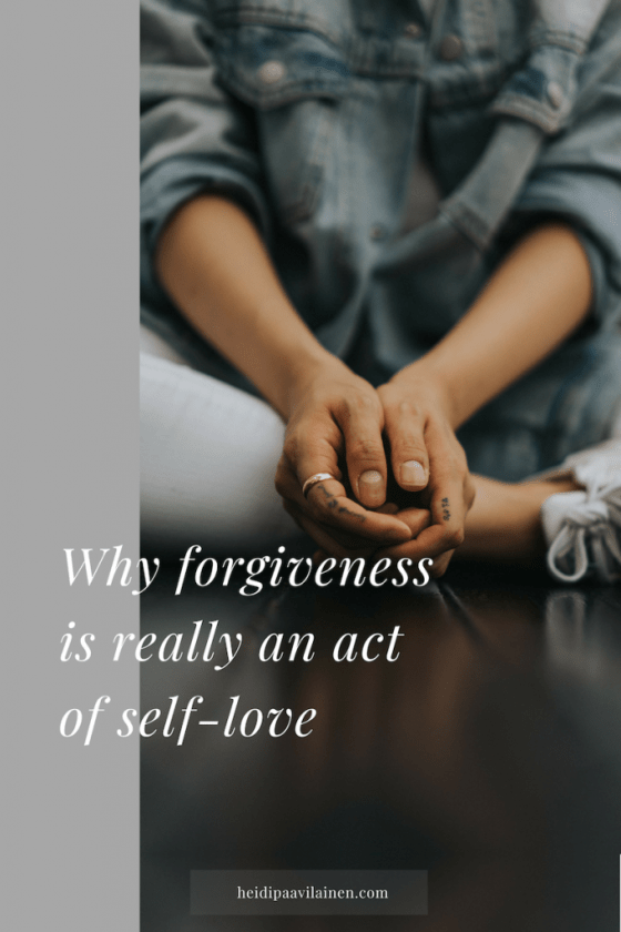 Why forgiveness is really an act of self love