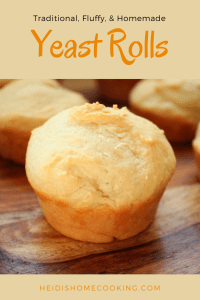 These traditional fluffy yeast rolls are inspired from Pioneer Woman's recipe for refrigerator rolls. The dough is easy to make, with no kneading required, and only 5 ingredients. It can be refrigerated overnight or up to 5 days! Simply scoop out what you want to bake and you'll have old fashioned, homemade dinner rolls every night. The buttery bread melts in your mouth and is a definite crowd pleaser!