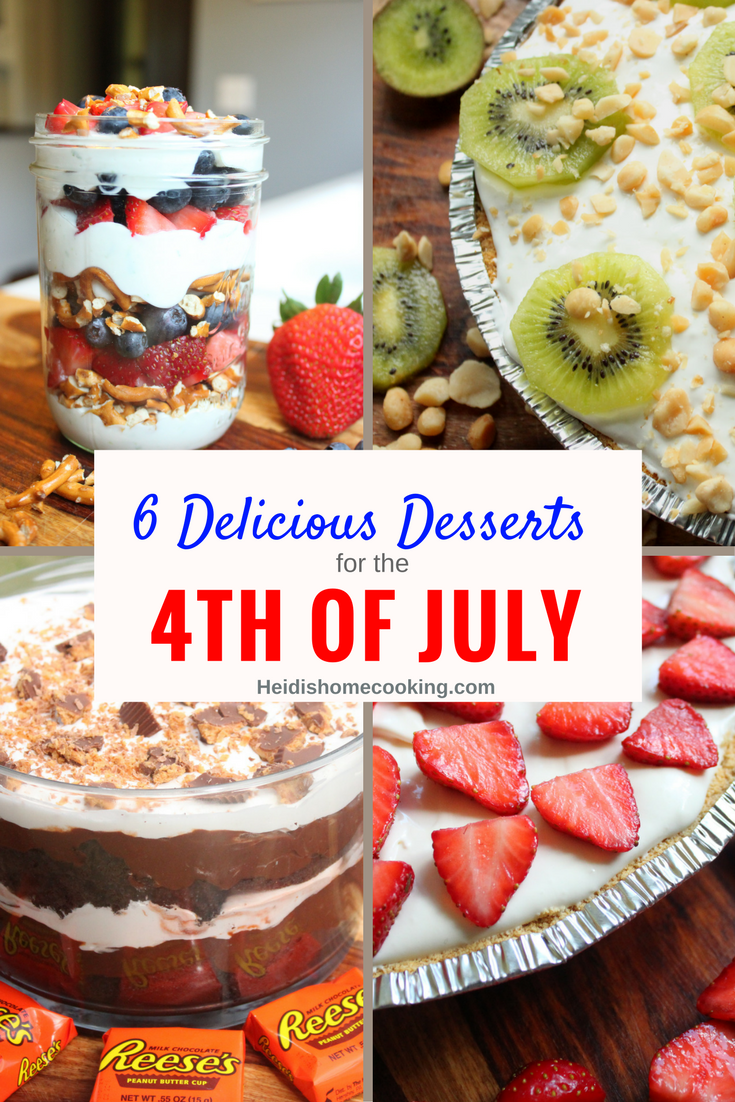 6 Delicious Desserts for 4th of July