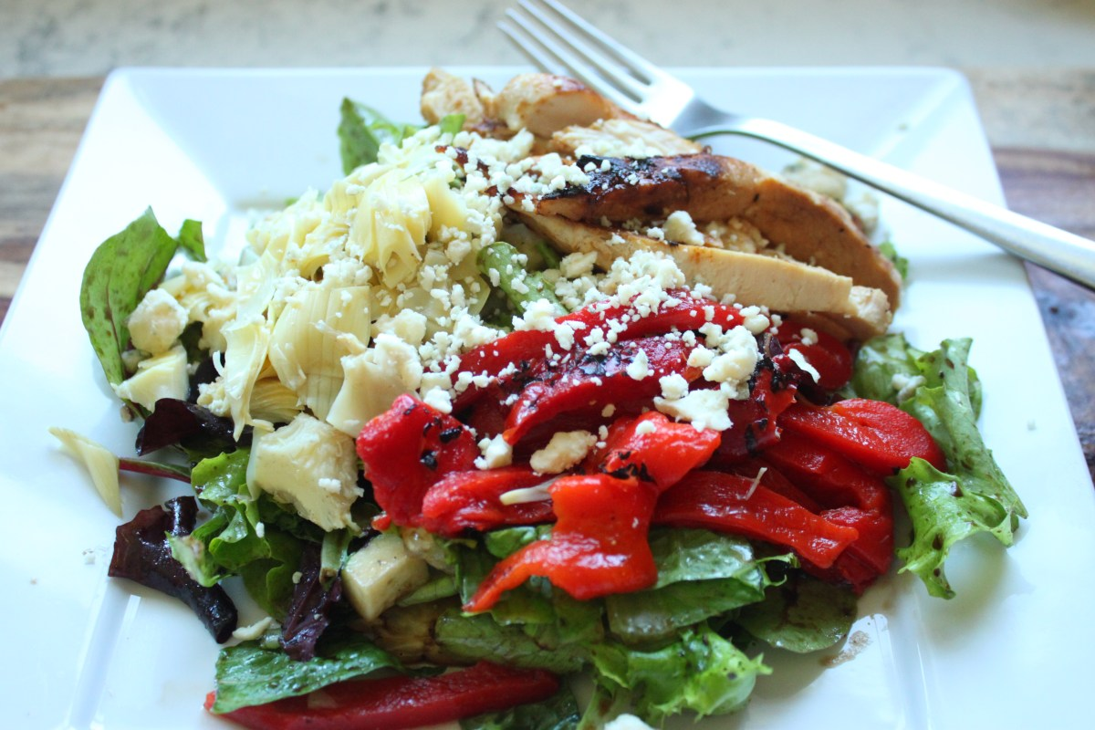 30 Minute Grilled Chicken Artichoke Salad