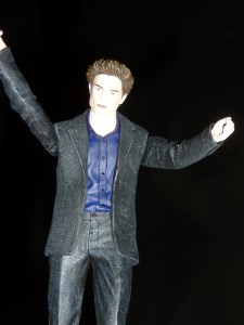 Yep, mini-Edward came along for the premiere.  Photo by H.M. Kerr-Schlaefer