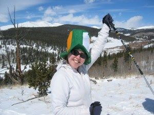 The Mayor celebrates St. Patrick's Day a top a Colorado mountain.