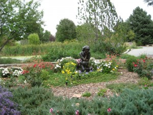 Benson Sculpture Park girl in Garden