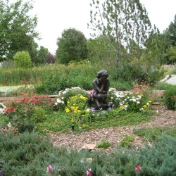 Benson Sculpture Park girl in Garden