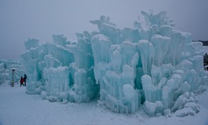 Ice Castles at Silverthorne outside