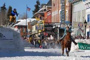 Skijoring in Leadville at Crystal Carnival