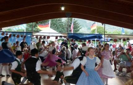 more dancing  at biergarten festival