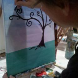 Channel your inner Bob Ross at a paint while you drink studio