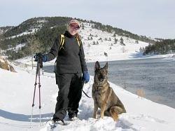 me & xena in the snow