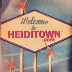 HeidiTown.com sign