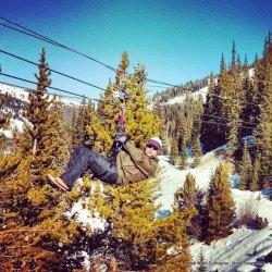 Ryan Ziplining HeidiTown 2013