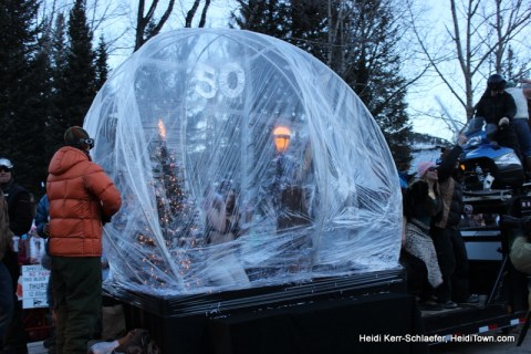 Snow Globe at Ullr Parade 2013 HeidiTown
