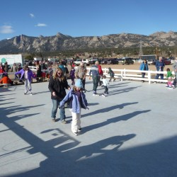 ice rink at Estes Park Winter Festival HeidiTown