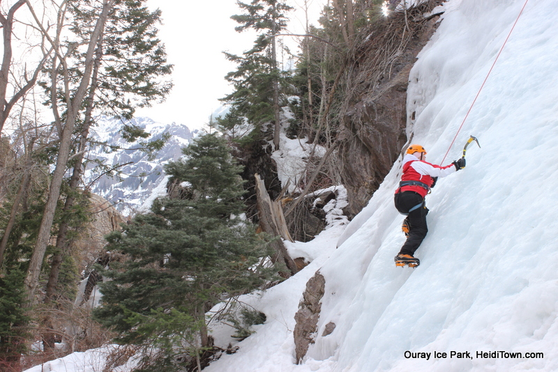 Heidi Ice Climbing in Ouray Photo by Ryan Schlaefer for HeidiTown.com March 2013