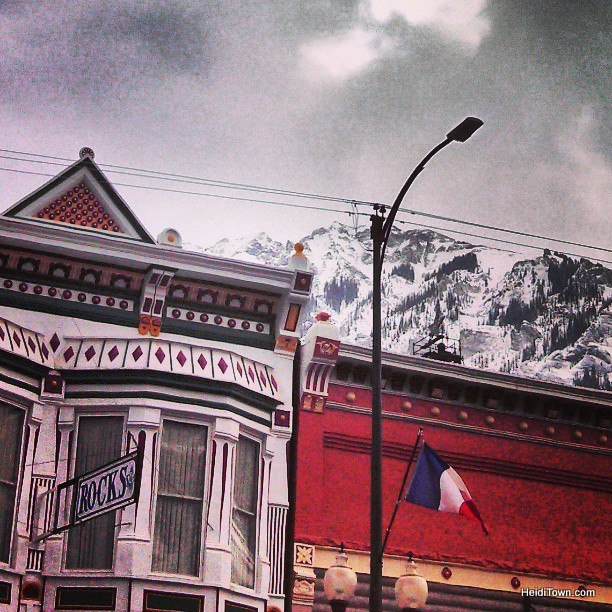 Downtown Ouray, Colorado by Heidi Kerr-Schlaefer for HeidiTown.com
