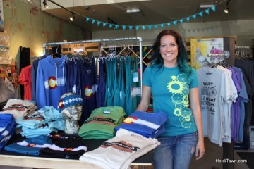 Suzanne Akin poses in her store Akinz in Old Town Fort Collins, Colorado. HeidiTown.com