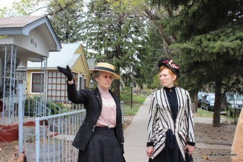 On our historical walking tour with the ladies of the Victorian Aid Society. HeidiTown.com