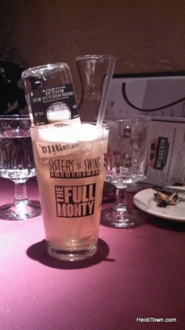 Hot Metal, a specialty drink during The Full Monty at Boulders Dinner Theater