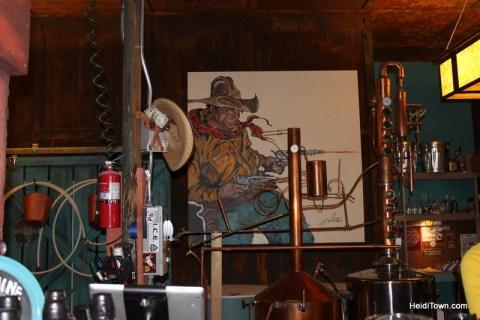 modern western art at Two Guns Distillery in Leadville, Colorado. HeidiTown.com Heidi Kerr-Schlaefer