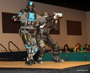 Halo group cosplay winners at Rocky Mountain Con 2013, in Denver, Colorado. HeidiTown.com