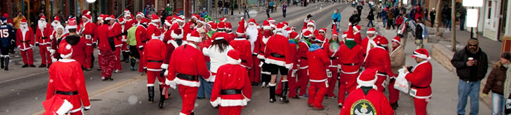 and their off Race of the Santas in Breckenridge Colorado
