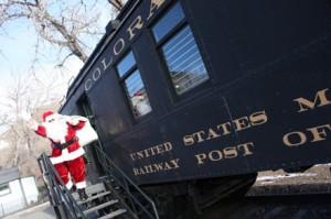 Santa Claus at Colorado Railroad Museum
