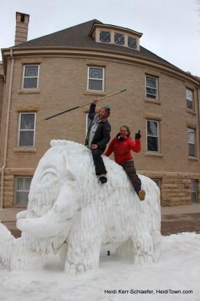 Snow Sculpture in the Dark 26. HeidiTown.com