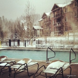 The pool at Grand Timber Lodge, Grand Lodge at Peak 7 in Breckenridge, Colorado. HeidiTown.com