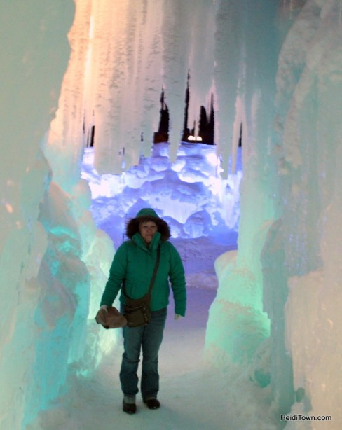 at the ice castle sin Breckenridge, Colorado. HeidiTown.com