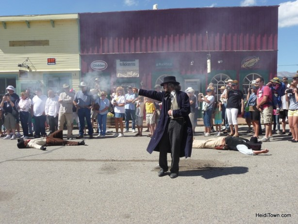shoot out during Burro Days Parade in Fairplay, Colorado. HeidiTown.com