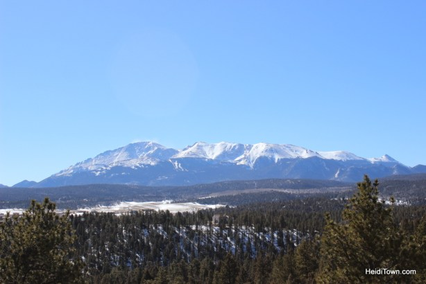 View of Pikes Peak from Pikes Peak Paradise Bed & Breakfast. HeidiTown.com