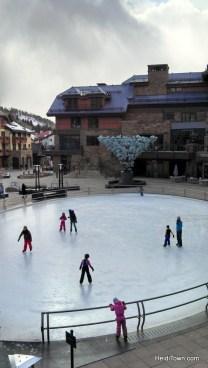 Ice rink Vail Village. HeidiTown.com