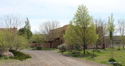 the adobe style Leroux Creek Inn & Vineyard in Hotchkiss, Colorado. HeidiTown
