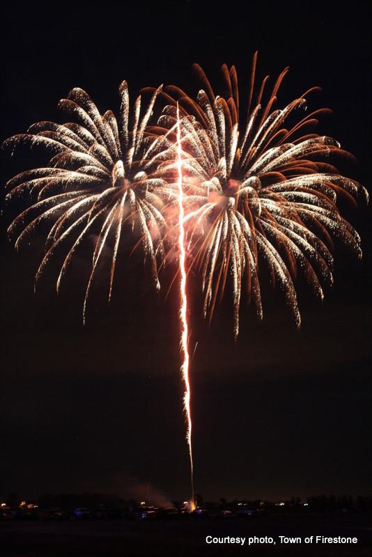 Fireworks in Firestone, Colorado.
