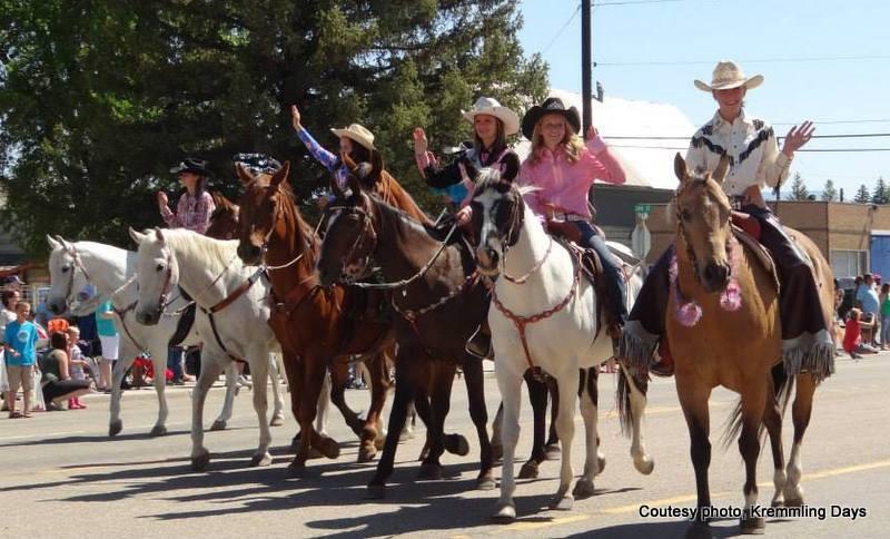 Horses in the Kremmling Days parade in Kremmling, Colorado. HeidiTown.com