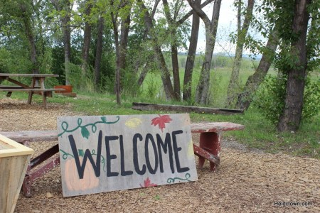 Welcome to Delicious Orchards sign. Delta County Colorado. HeidiTown.com