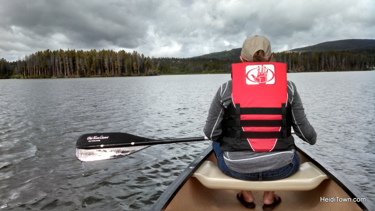 Canoeing Shadow Mountain Lake in Grand Lake, Colorado. HeidiTown.com