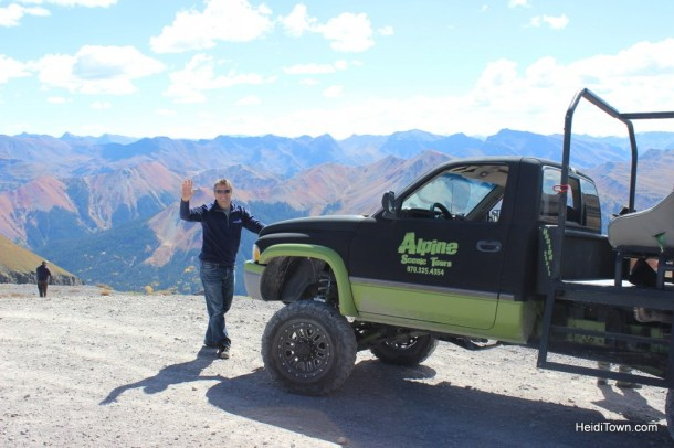 a view of the Red Mountains from atop Imogene Pass outside of Ouray, Colorado. A 4-wheel drive excursion with Alpine Scenic Tours. HeidiTown.com