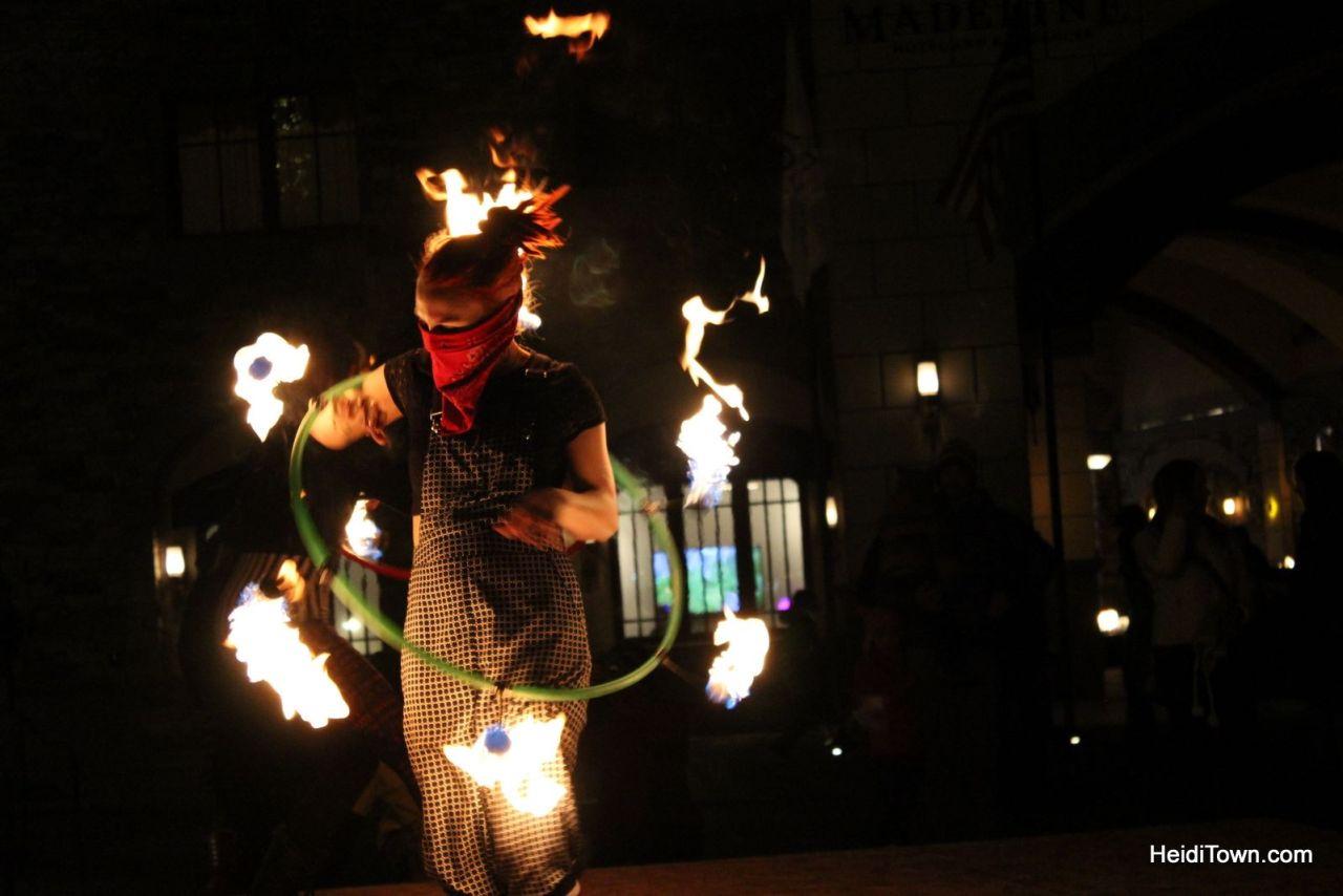 A fire performer at Telluride Fire Festival. Loveland Fire & Ice, Colorado. HeidiTown.com