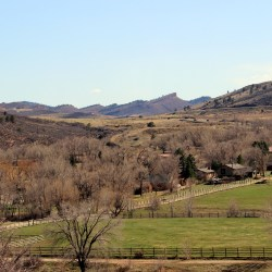 The view from Green Ridge at Sylvan Dale Guest Ranch in Loveland, Colorado. HeidiTown.com