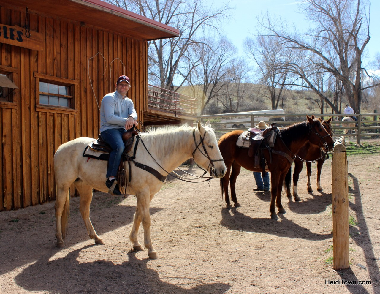 Ryan Schlaefer on Buckaroo at Sylvan Dale Guest Ranch. Playing cowgirl at Sylvan Dale Guest. HeidiTown.com