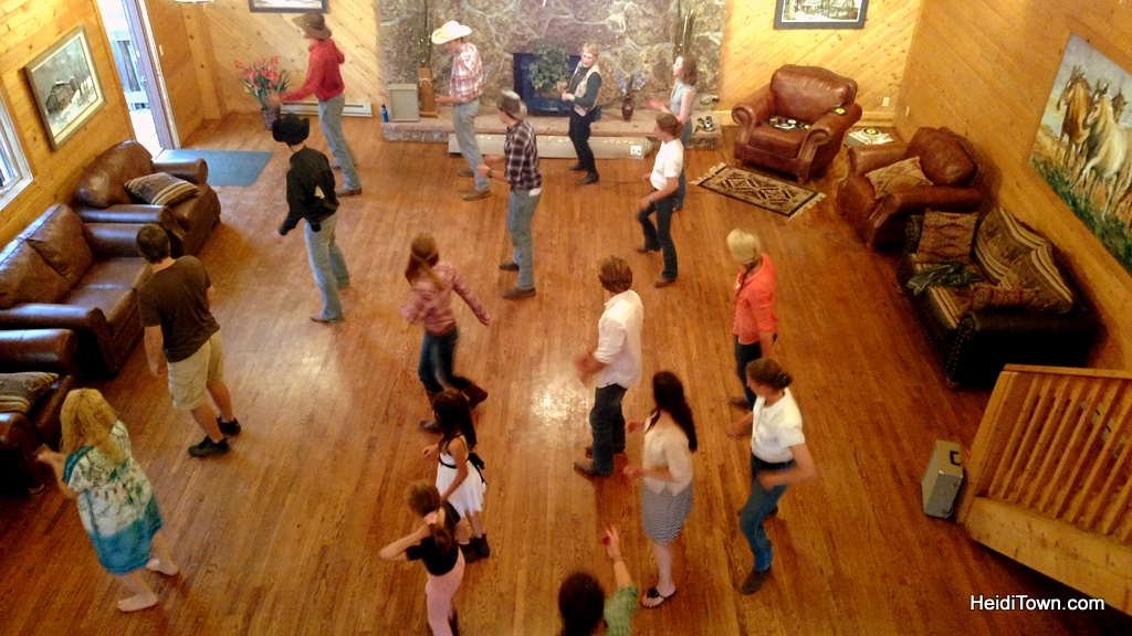 Line dancing at Latigo Ranch. HeidiTown.com