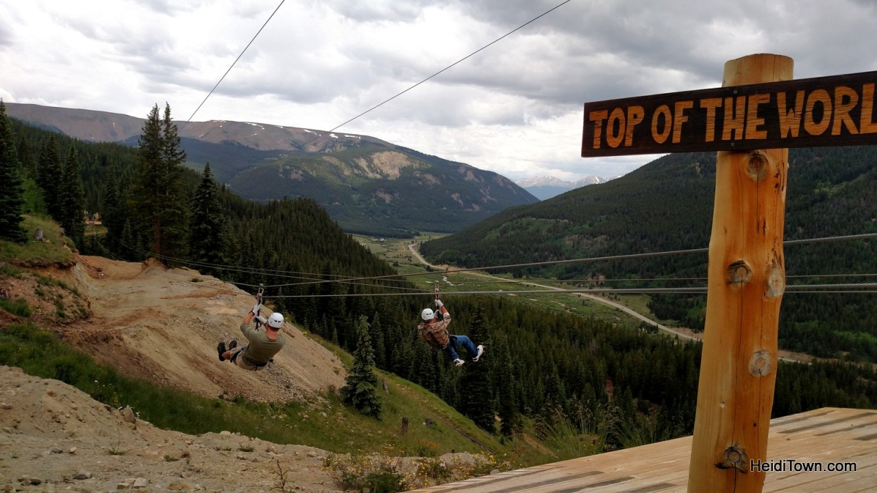 Top of the World zip line at Top of the Rockies. HeidiTown.com