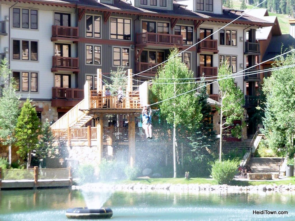 zip lining at Copper Mountain. HeidiTown.com