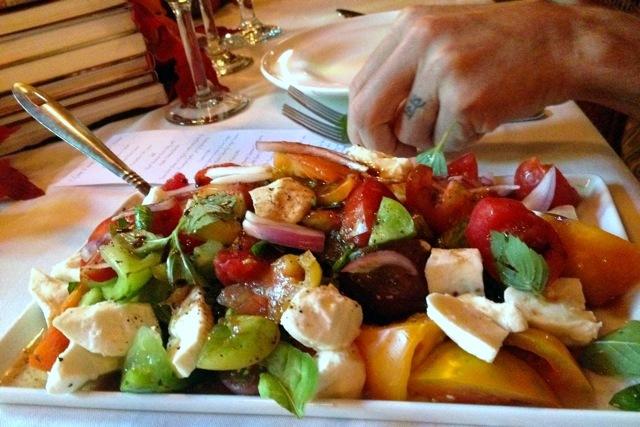 Colorado Farm & Art Market Harvest Dinner. heirloom tomato. HeidiTown.com