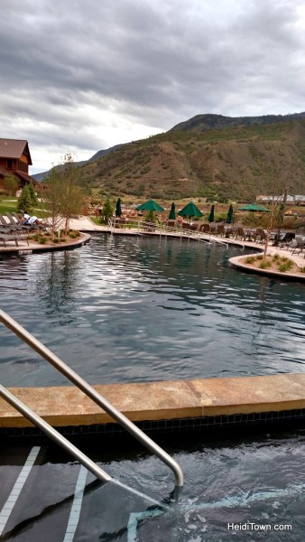 The swimming pool at Iron Mountain Hot Springs. HeidiTown.com