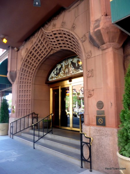 The grand entrance to the Brown Palace Hotel. Denver birthday hotels. HeidiTown.com